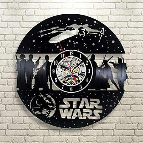 Light Side vs Dark Side Star Wars Vinyl Record Wall Clock - Titan Design & Technology