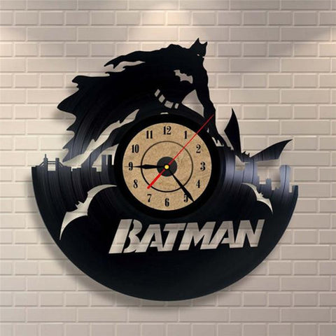 Batman Bruce Wayne Vinyl Record Wall Clock - Titan Design & Technology