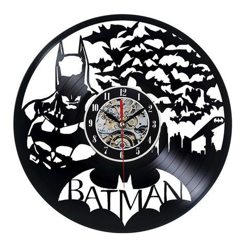 Batman Bat Swarm Vinyl Record Wall Clock - Titan Design & Technology