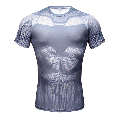 Batman Oldschool Superhero Men's Compression Shirt - Titan Design & Technology - 1