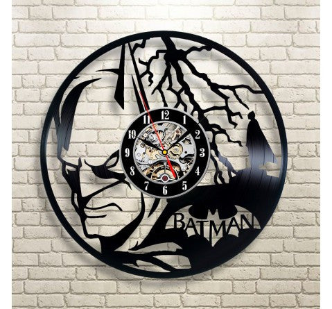 Batman Lightning Vinyl Record Wall Clock - Titan Design & Technology