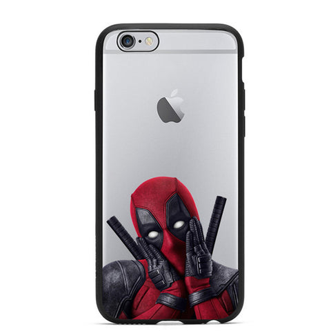 3D Deadpool iPhone 5/5S/SE/6/6S/6 Plus Soft Case - Titan Design & Technology - 1