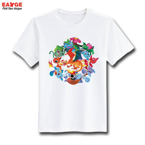 Pokemon Starters Evolution Unisex T-Shirt - Titan Design & Technology - 1