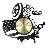 Captain America Vinyl Record Wall Clock - Titan Design & Technology - 1