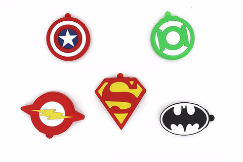Marvel DC Superhero Logo Key Chain USB 2.0 Flash Drives - Titan Design & Technology - 1