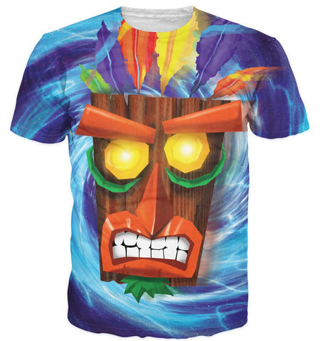 Crash Bandicoot Aku Aku Mask Unisex T-Shirt - Titan Design & Technology