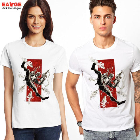 Deadpool Shots Fired Marvel Unisex T-Shirt - Titan Design & Technology - 1