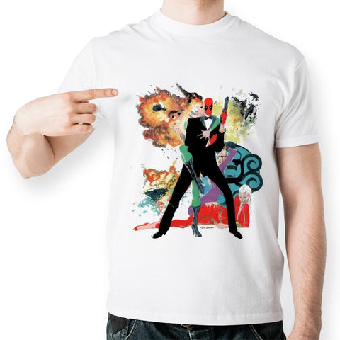 Deadpool James Bond Cosplay Marvel Unisex T-Shirt - Titan Design & Technology - 1