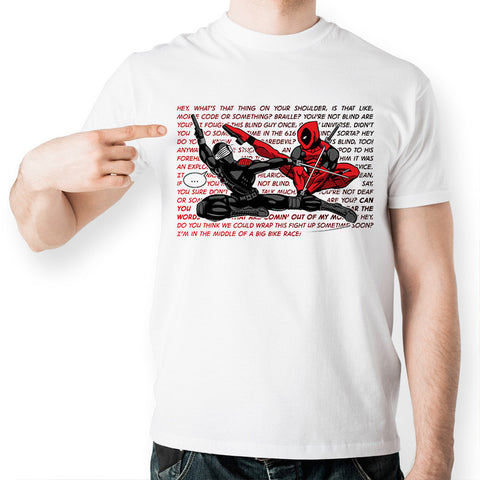Deadpool Sword Fight Marvel Unisex T-Shirt - Titan Design & Technology - 1
