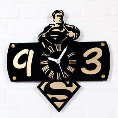 Superman Retro Vinyl Record Wall Clock - Titan Design & Technology