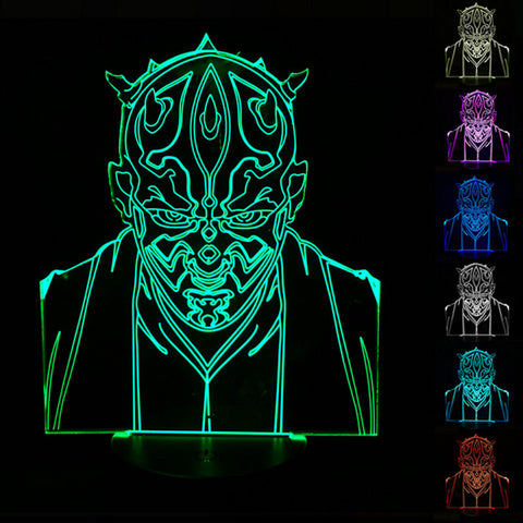 Darth Maul Star Wars 3D Night Light - Titan Design & Technology - 1