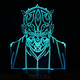 Darth Maul Star Wars 3D Night Light - Titan Design & Technology - 4
