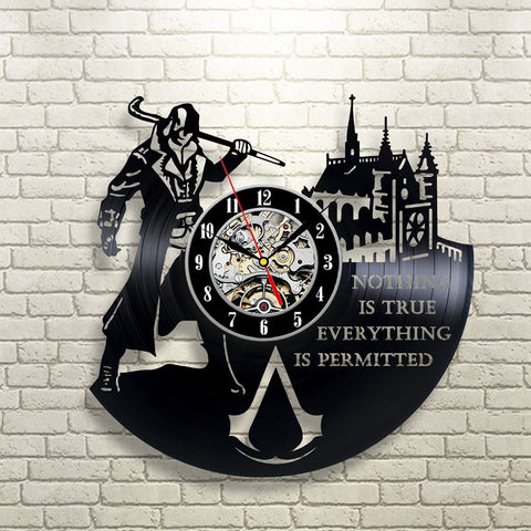 Assassin's Creed Vinyl Record Wall Clock - Titan Design & Technology
