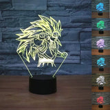 SSJ3 Goku Dragon Ball Z 3D Night Light - Titan Design & Technology - 1