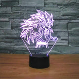 SSJ3 Goku Dragon Ball Z 3D Night Light - Titan Design & Technology - 3