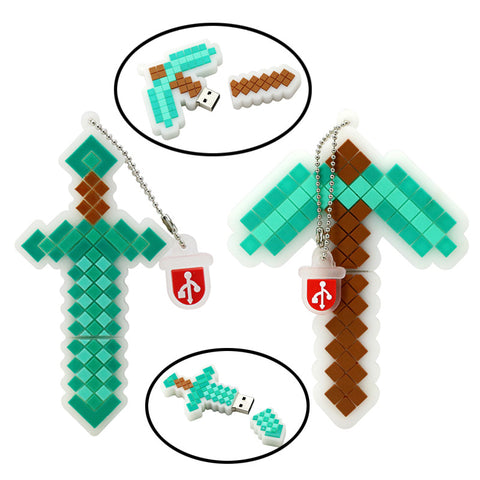 Minecraft Sword & Pickaxe USB 2.0 Flash Drives - Titan Design & Technology - 1