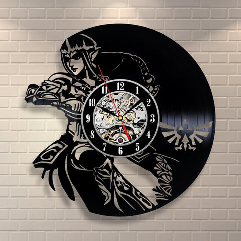Zelda Movie Vinyl Record Wall Clock - Titan Design & Technology