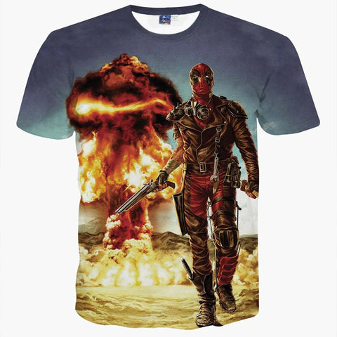 Deadpool Mad Max Men's T-Shirt - Titan Design & Technology