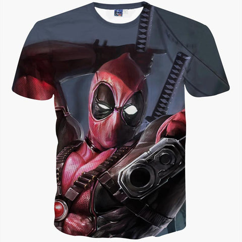 Deadpool In Your Face Men's T-Shirt - Titan Design & Technology