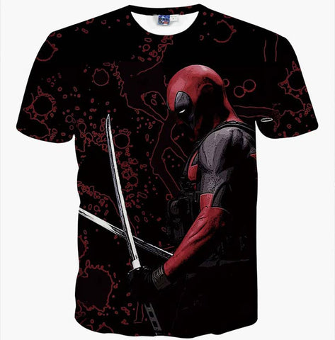 Deadpool Swords Marvel Men's T-Shirt - Titan Design & Technology - 1