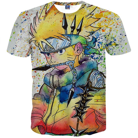 Naruto Colourful Men's T-Shirt - Titan Design & Technology