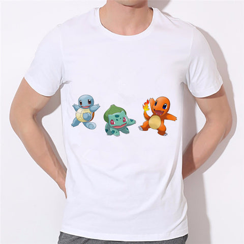 Pokemon Squirtle Bulbasaur Charmander Unisex T-Shirt - Titan Design & Technology