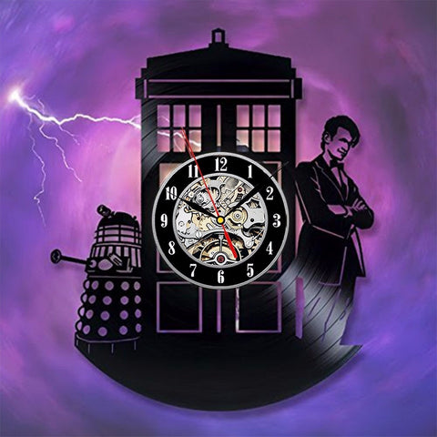 Doctor Who Dalek Vinyl Record Wall Clock - Titan Design & Technology