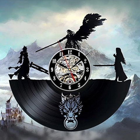 Final Fantasy VII Advent Children Vinyl Record Wall Clock - Titan Design & Technology