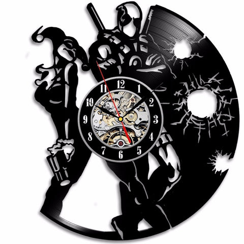 Deadpool Harley Quinn Vinyl Record Wall Clock - Titan Design & Technology - 1