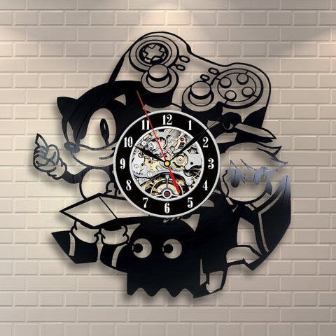 Sonic Zelda Pac-Man Games Vinyl Record Wall Clock - Titan Design & Technology
