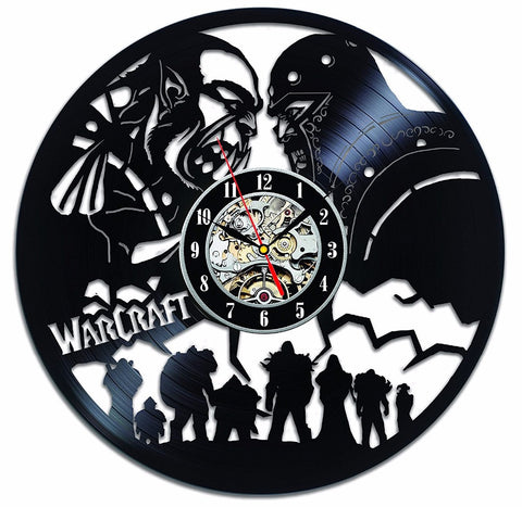 World of Warcraft Vinyl Record Wall Clock - Titan Design & Technology