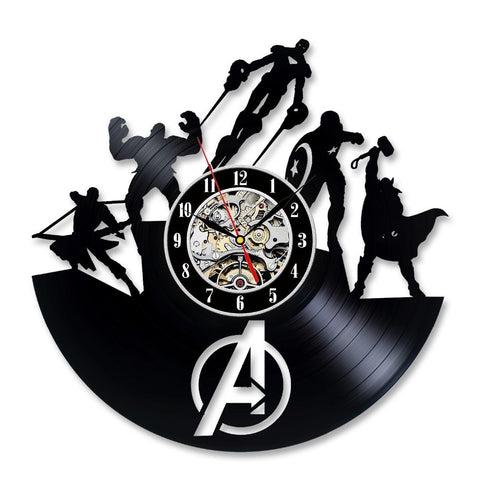 The Avengers Vinyl Record Wall Clock - Titan Design & Technology