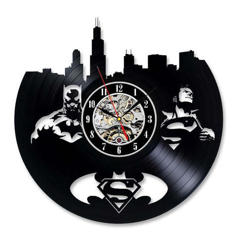 Batman vs Superman Vinyl Record Wall Clock - Titan Design & Technology
