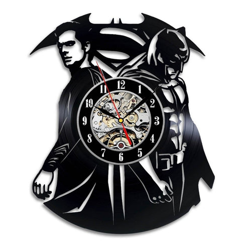 Batman vs Superman Logo DC Vinyl Record Wall Clock - Titan Design & Technology