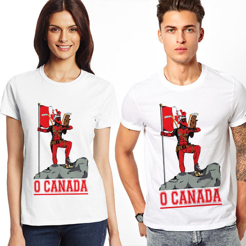 Deadpool O Canada Marvel Unisex T-Shirt - Titan Design & Technology - 1