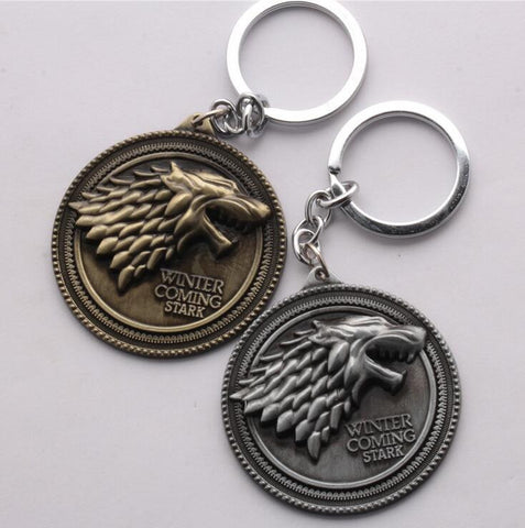 Game of Thrones Winter is Coming House of Stark Key Chain - Titan Design & Technology - 1