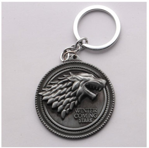 Game of Thrones Winter is Coming House of Stark Key Chain - Titan Design & Technology - 2