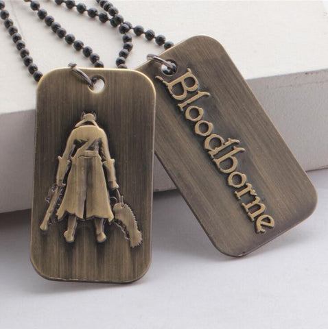 Bloodborne Game Logo  Dog Tag Necklace & Key Chain - Titan Design & Technology - 1