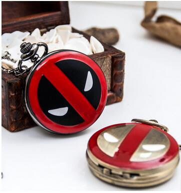 Deadpool Vintage Pocket Watch Necklace - Titan Design & Technology - 1