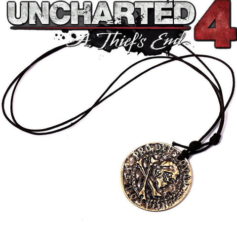 Uncharted 4 Old Gold Coin Necklace & Key Chain - Titan Design & Technology - 1