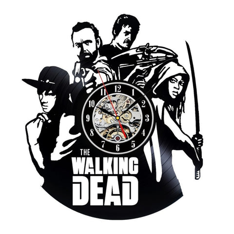 The Walking Dead Vintage Retro Vinyl Record Wall Clock - Titan Design & Technology