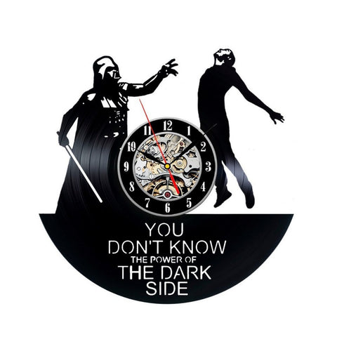 Star Wars Darth Vader Luke Skywalker Dark Side Vinyl Record Wall Clock - Titan Design & Technology