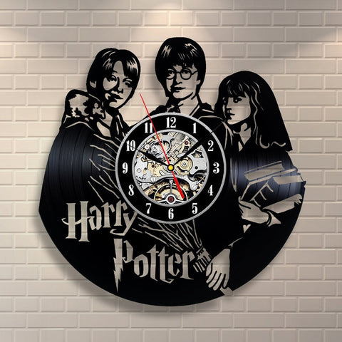 Harry Potter Movie Theme Vinyl Record Wall Clock