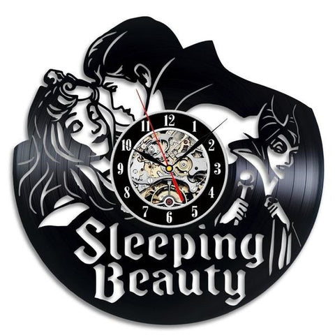 Sleeping Beauty Vinyl Record Wall Clock