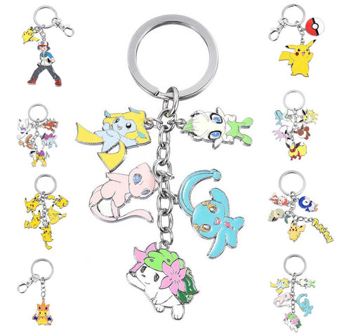 Assorted Metal Pokemon Key Chains - Titan Design & Technology - 1
