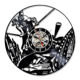 DC Comics: Old School Batman & Superman Vinyl Record Wall Clocks