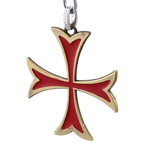 Assassin's Creed The Knights Templar Red Cross Key Chain - Titan Design & Technology - 1