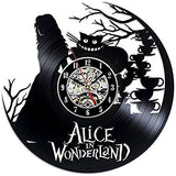 Alice in Wonderland Vinyl Record Wall Clocks