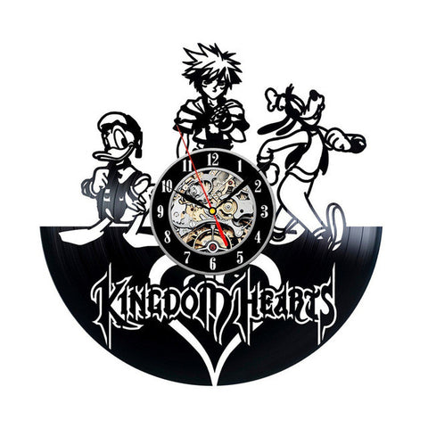 Kingdom Hearts Game Vinyl Record Wall Clock