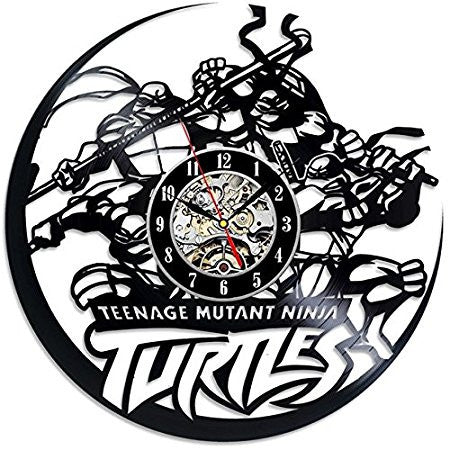 Teenage Mutant Ninja Turtles Theme Vinyl Record Wall Clock